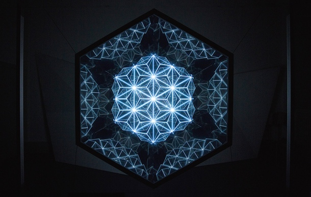 "Cover image; ""Patterns of Harmony"" (installation view) by Gaspar Battha, photographed by Jordan Katz"